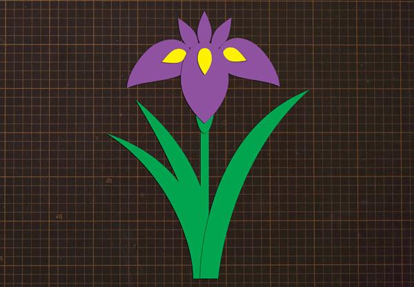 壁面 飾り 花 の 型紙